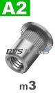 m3x10mm / per stuk - blindklinkmoer, cilinderkop A2