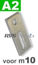 m10 / per stuk - adapterplaat A2 82x40x5mm