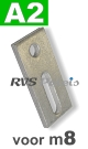 m8 / per stuk - adapterplaat A2 82x40x5mm