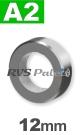 12mm / per stuk - stelring met stelschroef A2