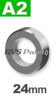 24mm / per stuk - stelring met stelschroef A2