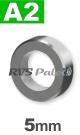 5mm / per stuk - stelring met stelschroef A2