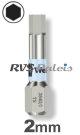 2,0mm zeskant / per stuk - RVS (INOX) 1/4 bit