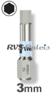 3,0mm zeskant / per stuk - RVS (INOX) 1/4 bit