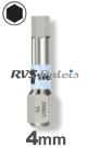 4,0mm zeskant / per stuk - RVS (INOX) 1/4 bit