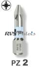 PZ 2 / per stuk - RVS (INOX) 1/4 bit