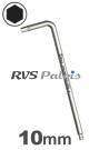 10,0mm zeskant / per stuk - RVS (INOX) inbussleutel