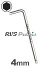 4,0mm zeskant / per stuk - RVS (INOX) inbussleutel