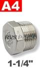 1-1/4   - 6-KNT plug A4